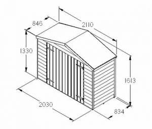 Hartwood FSC Overlap Timber Bike Store Dimensions