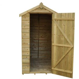 Hartwood Premium 6' x 4' FSC Tongue and Groove Apex Shed Front Open Door