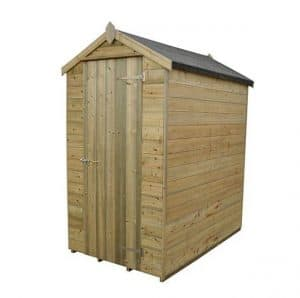 Hartwood Premium 6' x 4' FSC Tongue and Groove Apex Shed Left View