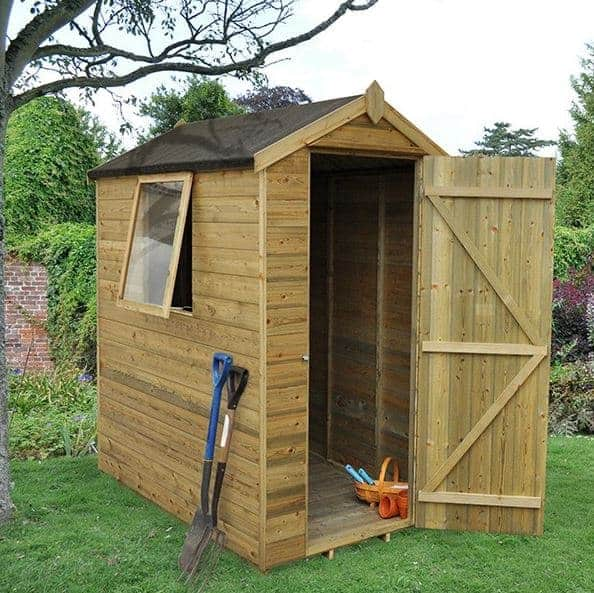 Hartwood Premium 6' x 4' FSC Tongue and Groove Apex Shed