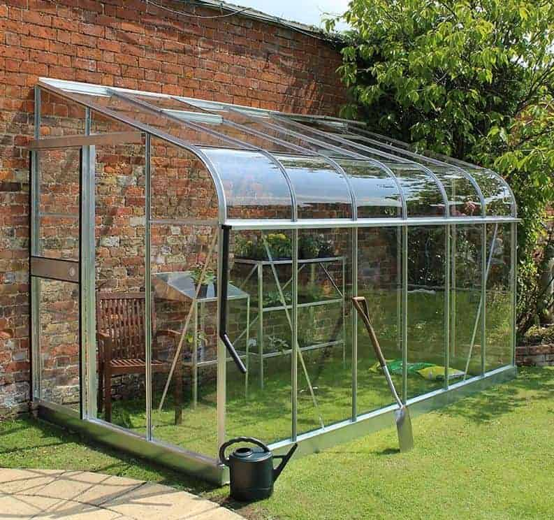 6'x12' Palram Rion White Sun Room Walk In Wall Greenhouse (1.8x3.6m)