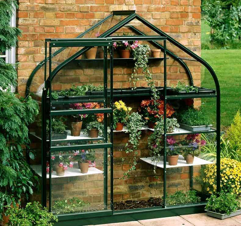 6'5 x 2'4 Halls Green Wall Garden 26 Greenhouse (1.94 x 0.69m)