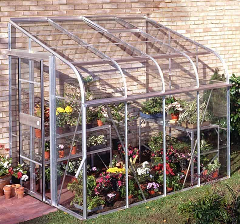 6'x8' Palram Rion White Lean to Greenhouse (1.8x2.4m)