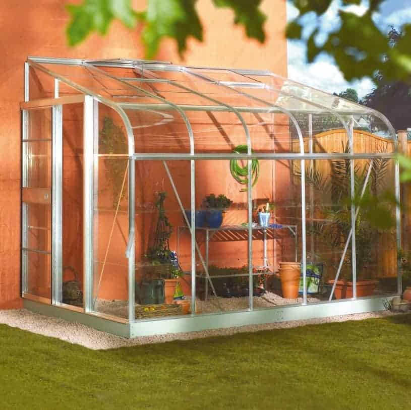 6'x10' Palram Rion White Sun Room Walk In Wall Greenhouse (1.8x3m)