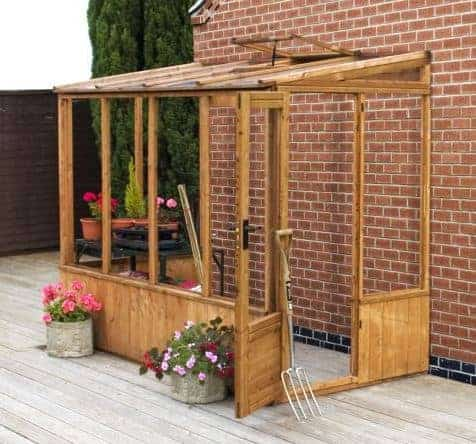 Adley 8' x 4' Lean-To Greenhouse