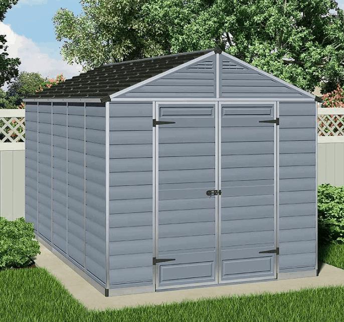 8' x 12' Palram Grey Skylight Plastic Shed (2.37m x 3.79m)
