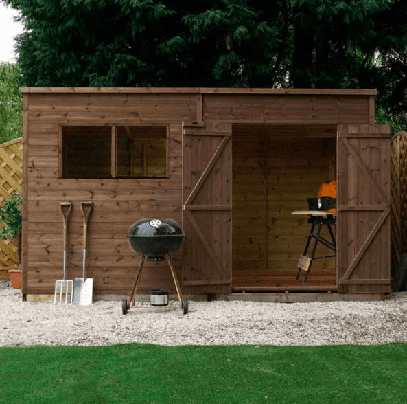 8' x 6' Forest Kielder Overlap Dip Treated Pent Wooden Shed