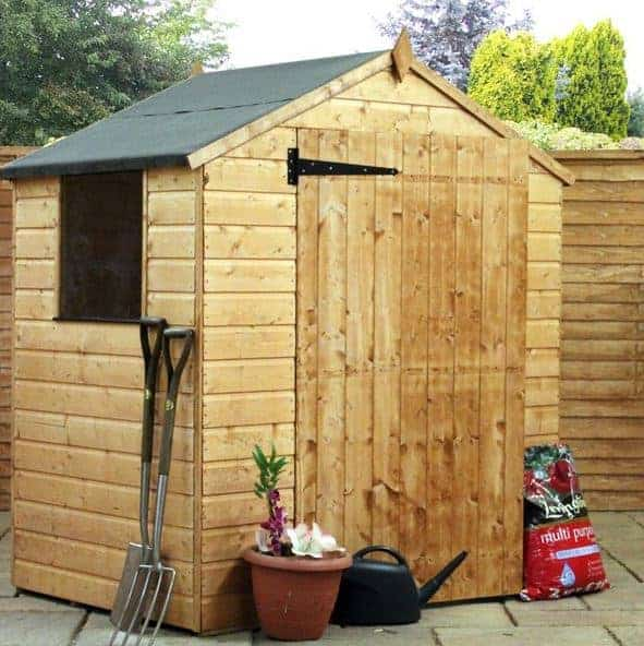 4x6 Shiplap OSB Apex Garden Shed with Single Door
