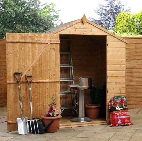 6' x 4' Forest Kielder Overlap Dip Treated Windowless Apex Wooden Shed