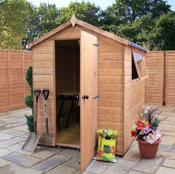 7x5 waltons groundsman shiplap tongue and groove apex garden shed