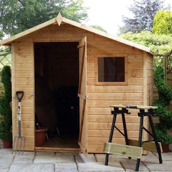 7x7 Offset Apex Garden Shed