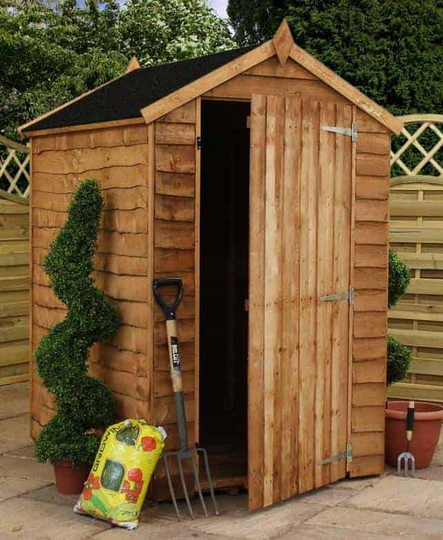 5' x 3' Forest Kielder Overlap Dip Treated Windowless Apex Wooden Shed