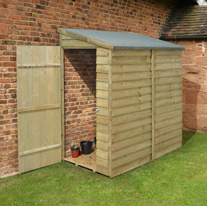 shed republic essential pressure treated pent wall small shed - Garden Sheds Small