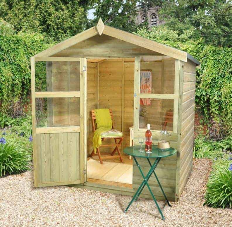 Small Garden Houses Uk Part - 46: 6u0027 X 6u0027 Sherborne Small Summer House