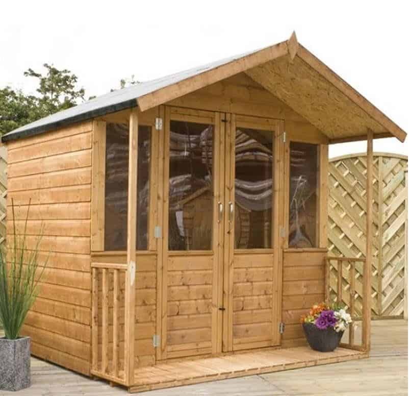 7x7 Windsor Traditional Wooden Summerhouse with Veranda