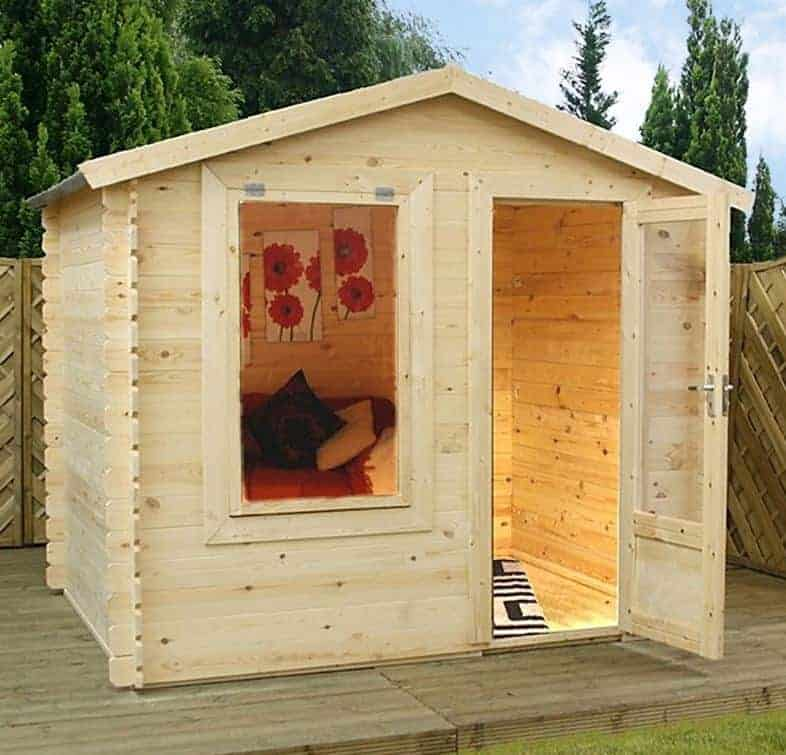 Alpine Kimberley 2.5m x 2m Log Cabin Summerhouse (19mm)