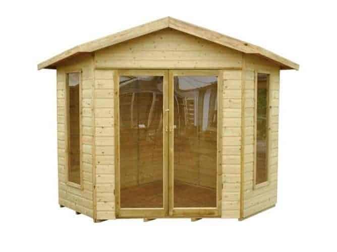 Forest Garden Forest Shiplap Corner Honeybourne Summerhouse, Pressure Treated, 8x8