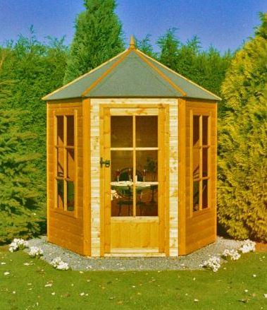 7'1x6'2 Shire Traditional Gazebo Wooden Hexagonal Summerhouse