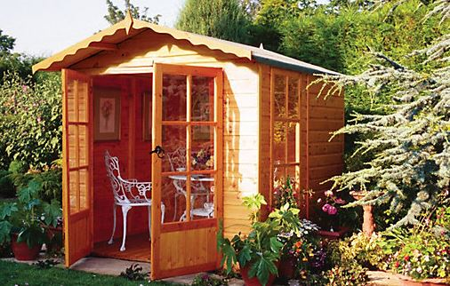 6'6x6'9 Shire Buckingham Traditional Wooden Summerhouse