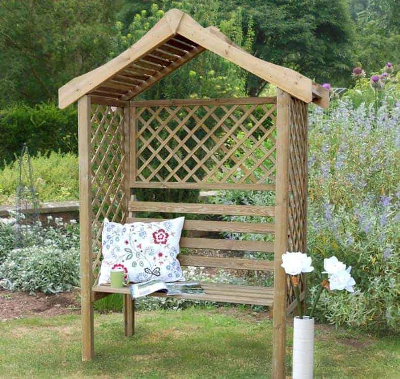 Forest Parisienne Garden Arbour Seat 5'x2'