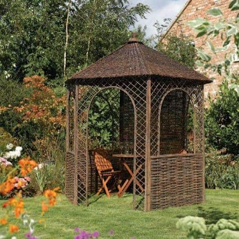 8' x 7' Rowlinson Willow Garden Gazebo (2.4x2.1m)