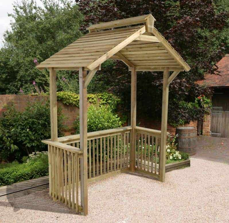 Forest Wooden BBQ Shelter 6'x4'