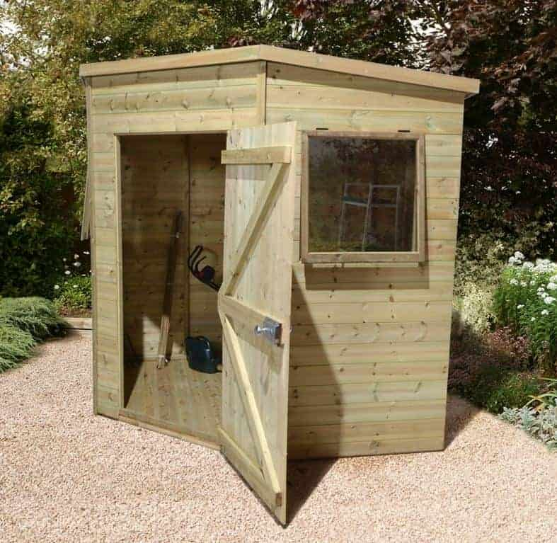 6'8 x 6'8 Ultimate Heavy Duty Corner Shed - Single Door (2.04m x 2.04m)