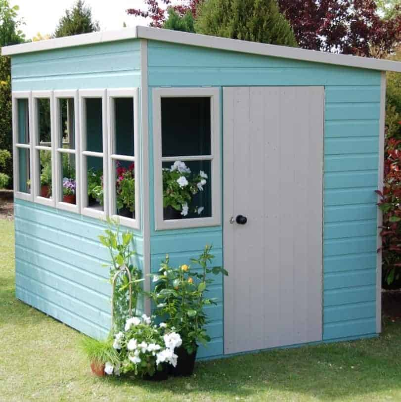6' x 8' Shire Sun Pent Wooden Garden Potting Shed (1.94m x 2.58m)