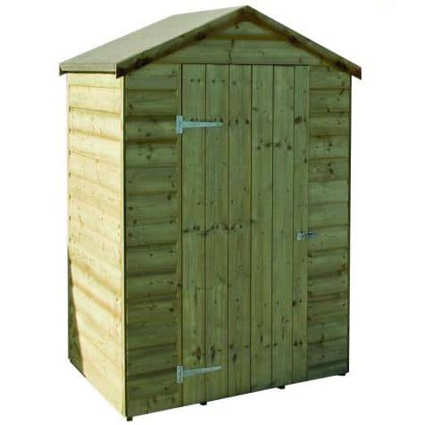 4' x 3' Rowlinson Oxford Wooden Garden Storage Shed (1.3m x 0.94m)