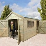 Wooden Garden Sheds - Shed-Plus Wooden Garden Sheds Champion Heavy Duty Combination Double Door Shed