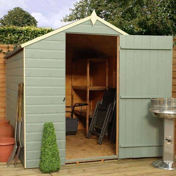 Waltons Wooden Garden Sheds 8' X 6' Ultra Value Tongue And Groove Apex Shed
