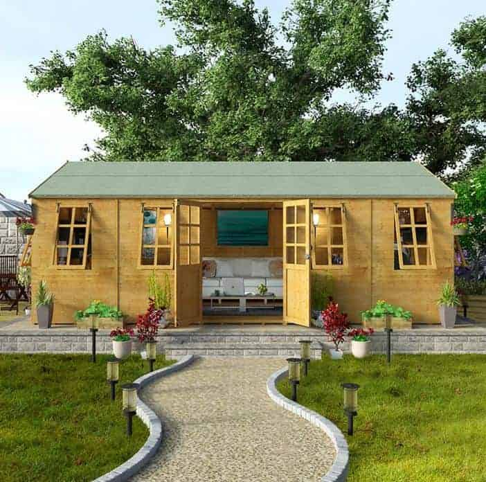 Wooden summer house who has the best for Garden designs with summer house