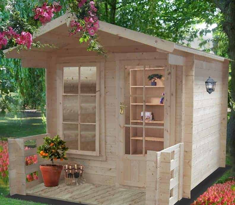Shire Maulden 2.1m x 2.9m Log Cabin Summerhouse (19mm)