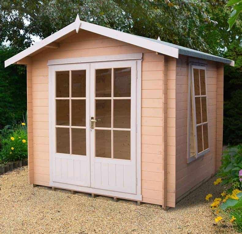 Shire Barnsdale 2.4m x 2.4m Wooden Log Cabin Summerhouse (19mm)