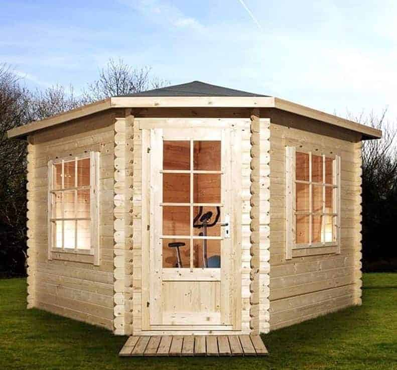 Alpine Aspen 3m x 3m Corner Log Cabin (28mm)