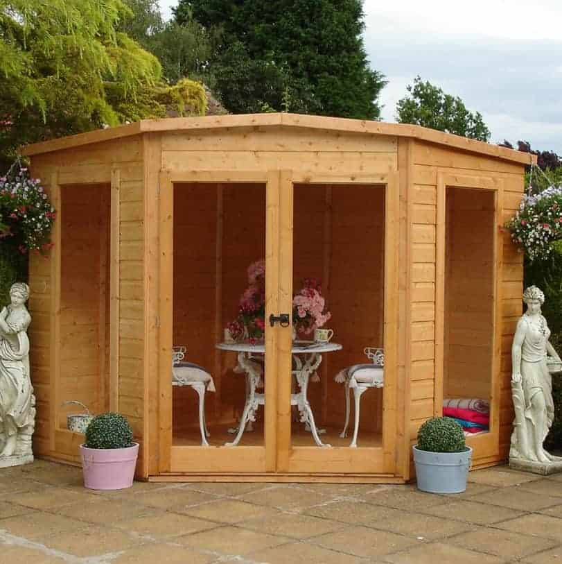 8x8 Shire Barclay Corner Wooden Summerhouse