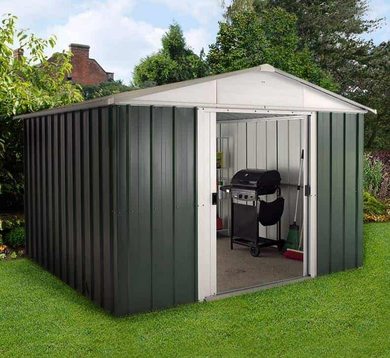 10' x 8' Yardmaster Green Metal Shed 108GEYZ (3.03m x 2.37m)