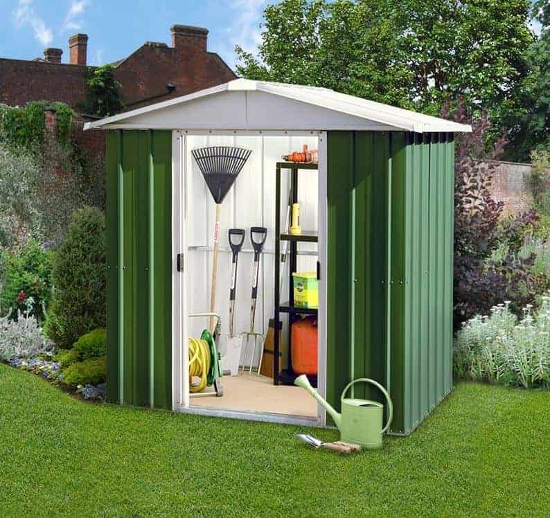6' x 4' Yardmaster Green Metal Shed 65GEYZ (1.86m x 1.25m)