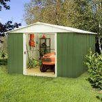 Yardmaster Sheds - Yardmaster sheds 10' X 13' Green Metal Shed