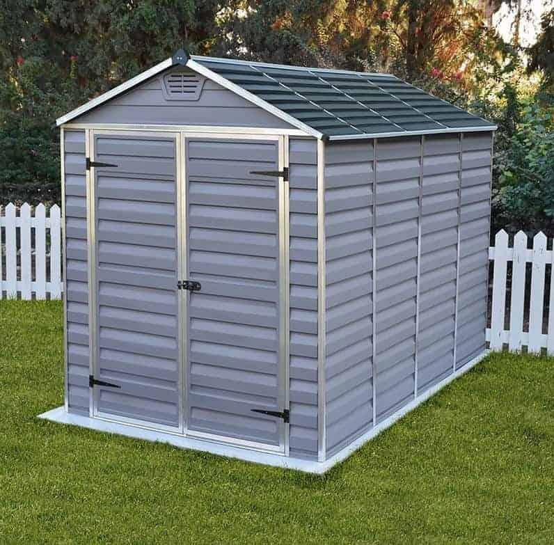 6' x 10' Palram Grey Skylight Plastic Shed (1.85m x 3.04m)