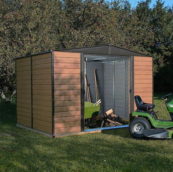 Rowlinson Woodvale 10' x 12' Apex Metal Shed With Floor