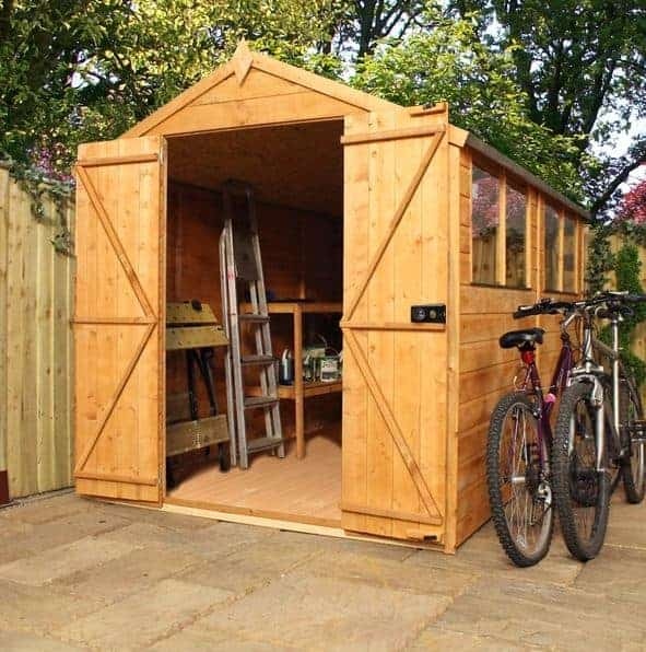Waltons 10 x 6 Overlap Double Door Apex Wooden Shed