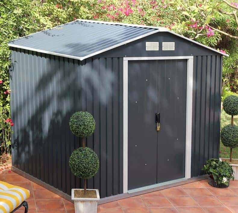10' x 8' Sapphire Apex Anthracite Metal Shed (3.22m x 2.42m)
