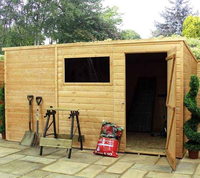 12' x 8' Traditional Standard Pent Wooden Garden Shed (3.66m x 2.44m)