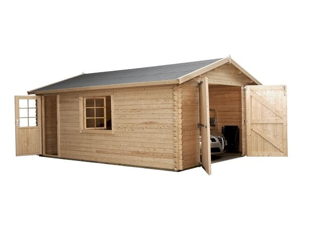 4.2m x 5.7m Waltons Log Cabin Garage