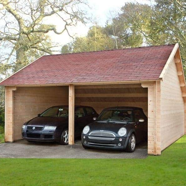 Log Field Barn Garage 6.0 x 6.0m