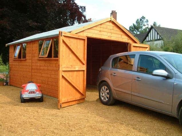 2' x 8' Shed-Plus Champion Heavy Duty Apex Double Door Shed (3.63m x 2.44m)