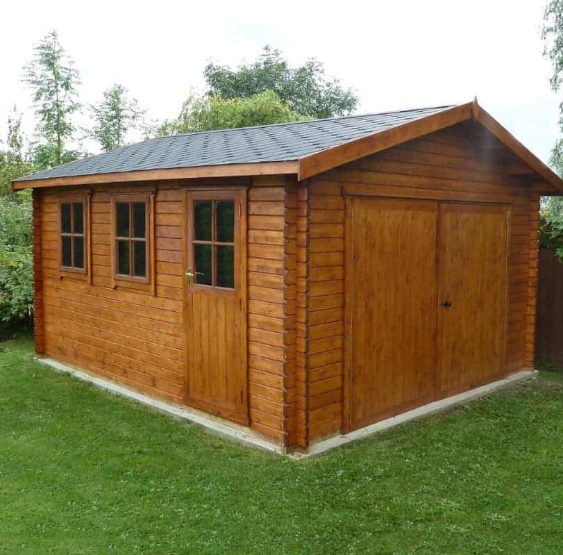 14' x 12' Traditional Deluxe Wooden Garage (4.28m x 3.66m)