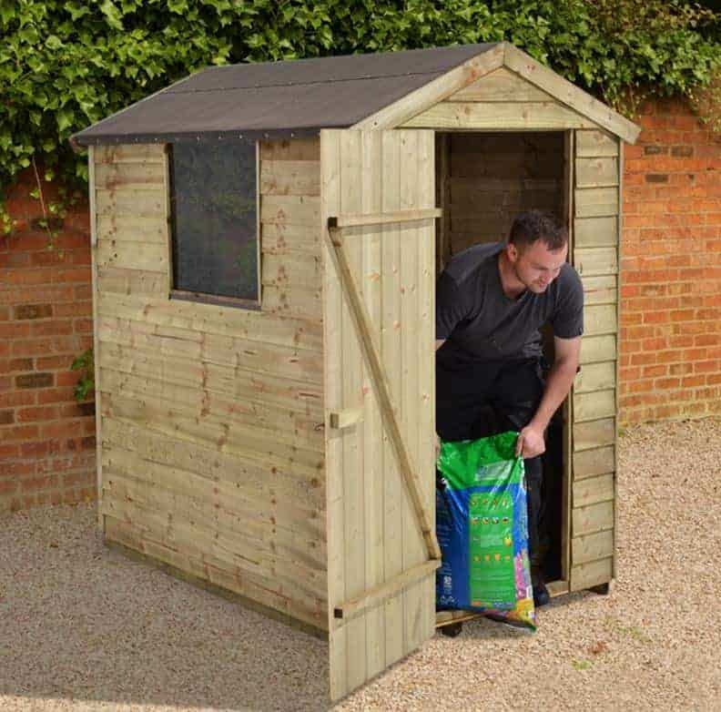 6' x 4' Forest Overlap Apex Wooden Shed Pressure Treated (1.82m x 1.32m)