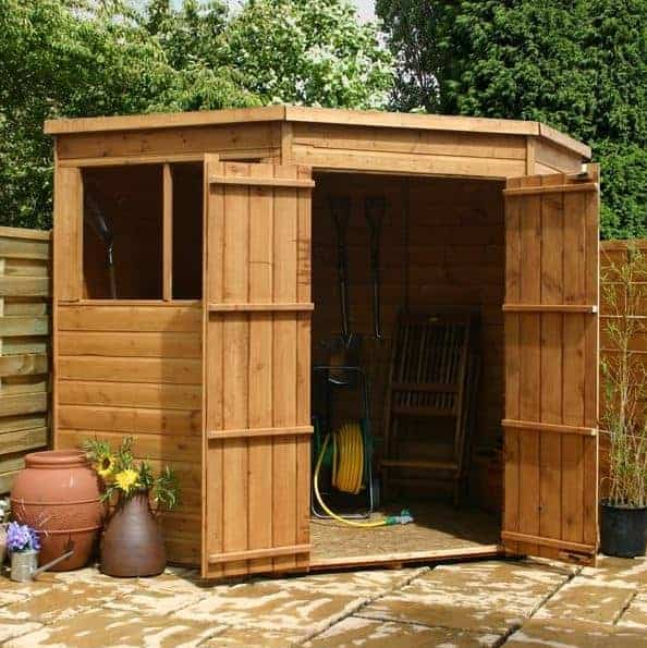 7 x 7 Waltons Tongue And Groove Corner Garden Sheds